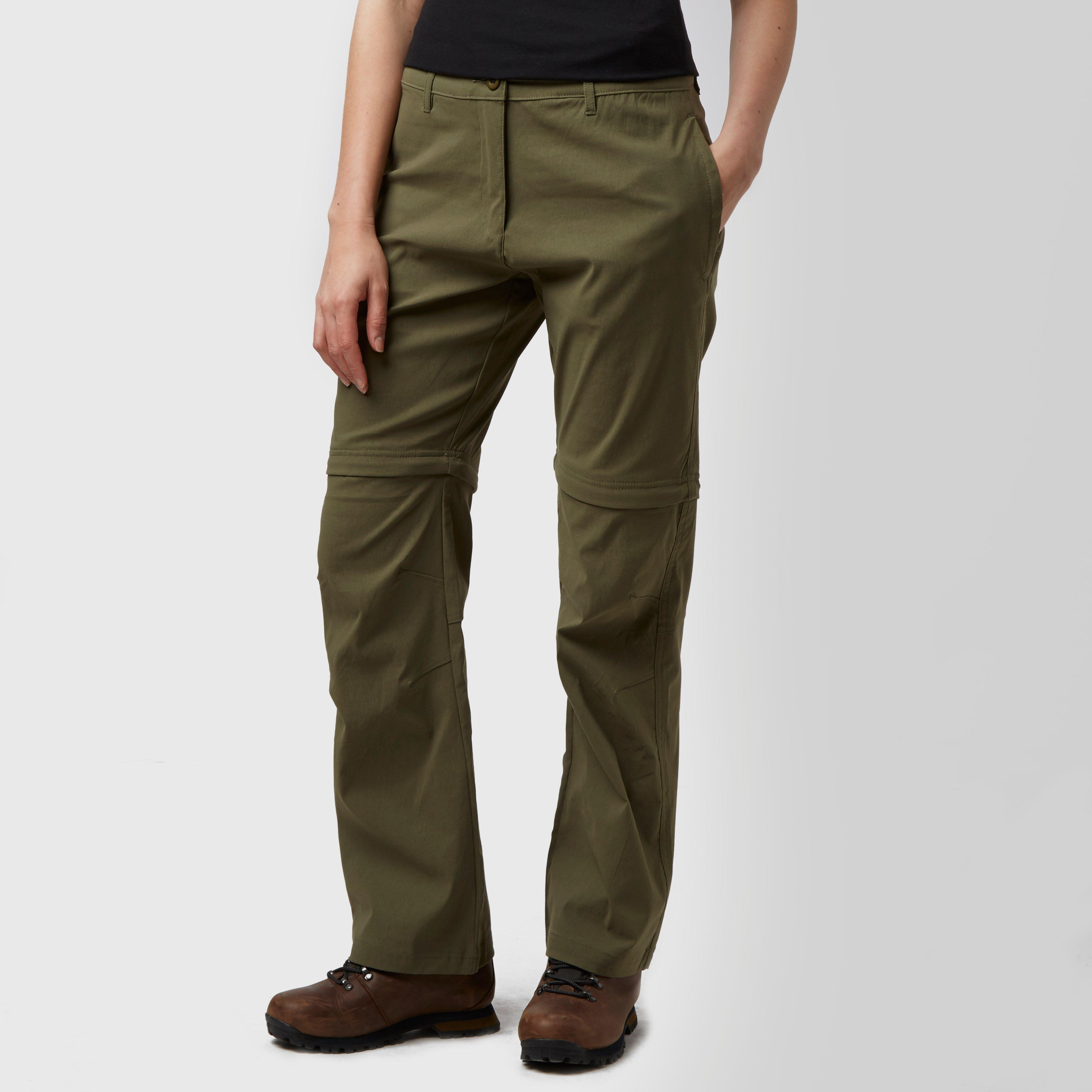 Peter Storm Women's Stretch Convertible Zip Off Trousers - Green, Green Review thumbnail